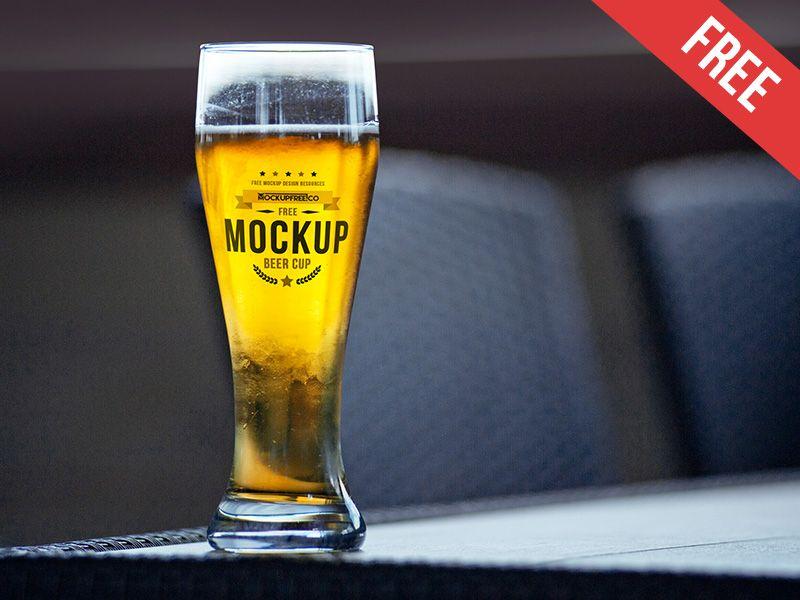 Beer Cup Free Psd Mockup Mockup Free Psd Mockup Psd Mockup
