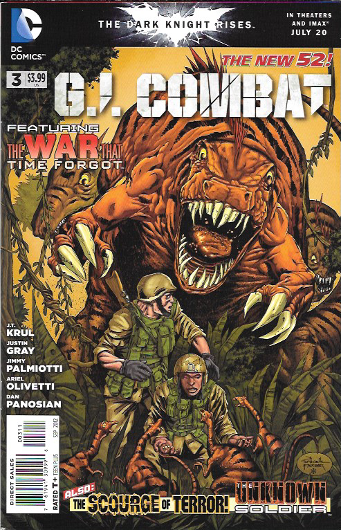 The War That Time Forgot ...Written By J.T. Kull , Art By Ariel Olivetti , Cover art Alberto Ponticelli , This Issue Is Near Mint Condition , The Story .....It's modern warfare versus prehistoric horr