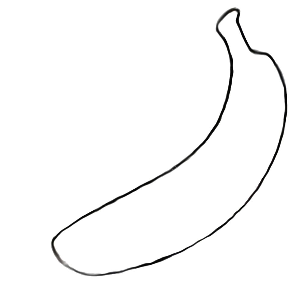 The Long Banana Fruit Favors Coloring Page For Kids