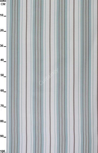 Streep turquoise taupe, gestreepte gordijnen | Gordijnen | Pinterest