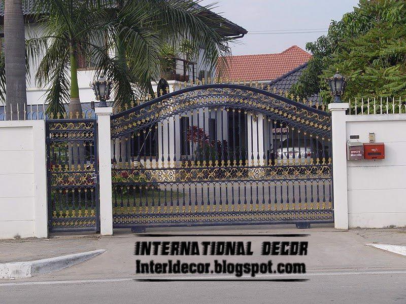 Elegance Home Decorating: Modern Sliding Iron Gate Designs UK, Sliding Iron  Gates Part 83