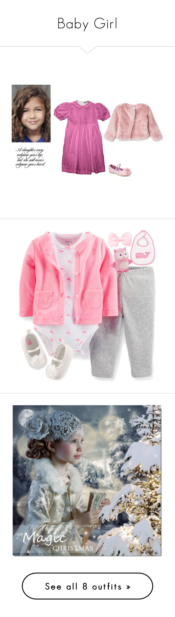 """""""Baby Girl"""" by rebelynne ❤ liked on Polyvore featuring Carter's, art, artset, christmas2014, amightygirl, theartistsloft, Marie Chantal, Uniqlo, Once Upon a Time and PATH"""