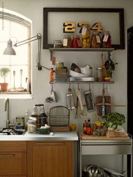 Objetos de metal en cocinas muebles de ikea estilo vintage - Ikea cocinas electrodomesticos ...