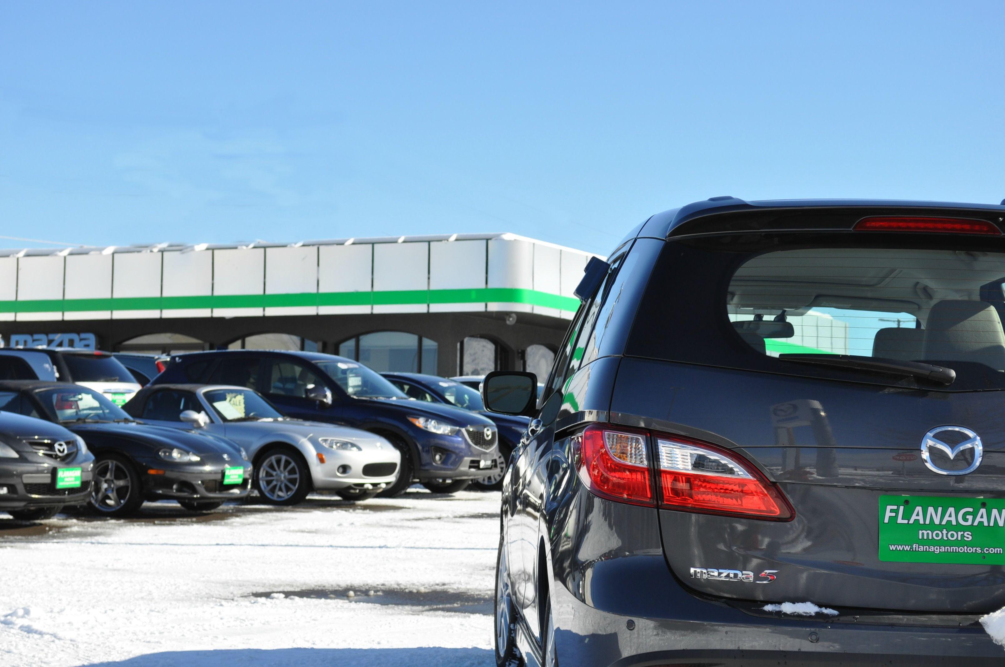 Winter at the dealership. Beautiful skies. http