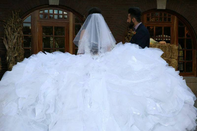 80defff4181 Sondra Celli  Custom  size 10 used wedding dress - Nearly Newlywed ...