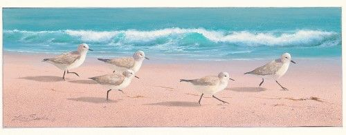 The Beach Bunch Poster Print by Lin Seslar (12 x 30)