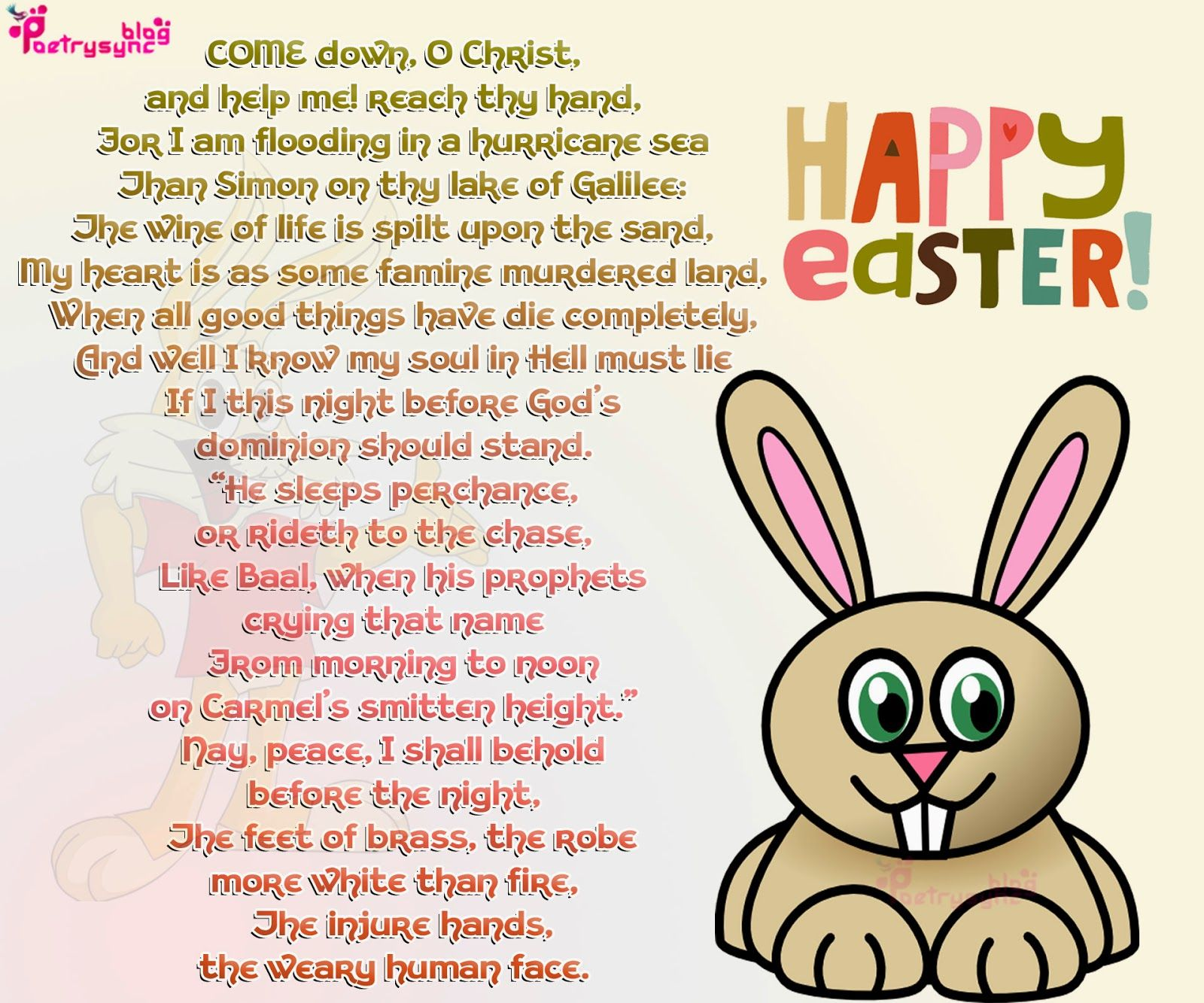 Happy easter poems happy easter pinterest poem happy easter poems negle Images