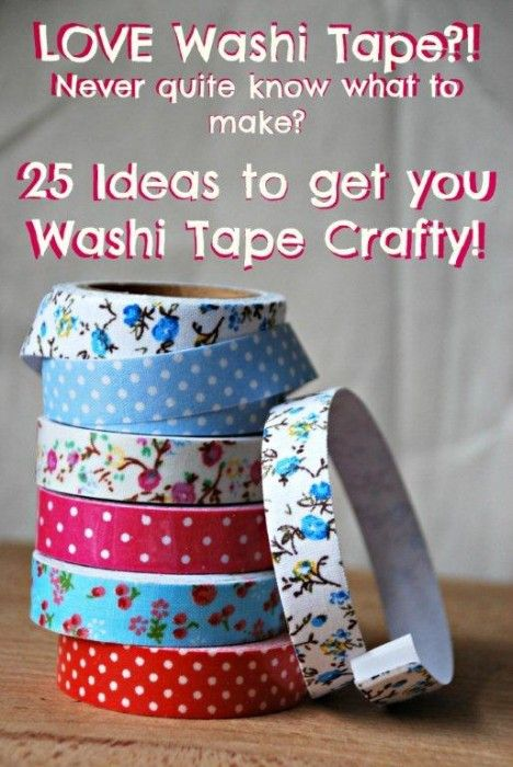 A great set of washi tape crafts and ideas - we love washi tape and buy it at every opportunity, then hoard it! Here are some ideas for all your lovely tape