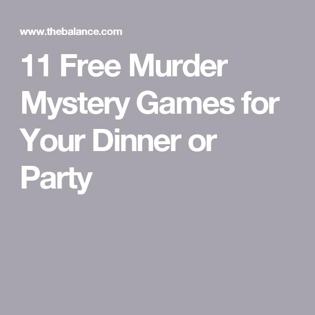 Murder Mystery Dinner Sheet Free: Free Murder Mystery Scripts For Your Next Murder Mystery