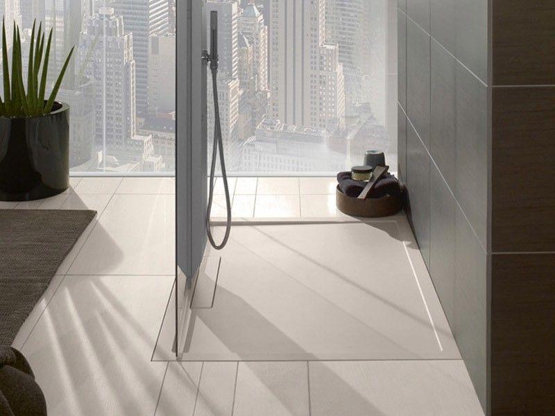 Ablaufrinne Badezimmer ~ Hsk acryl duschwanne super flach mit integrierter ablaufrinne