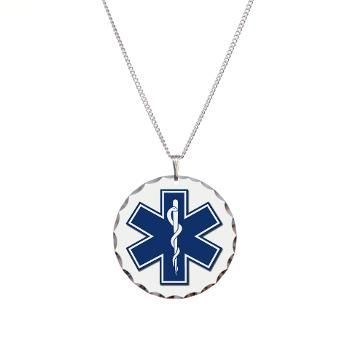 EMT Rescue Necklace Circle Charm