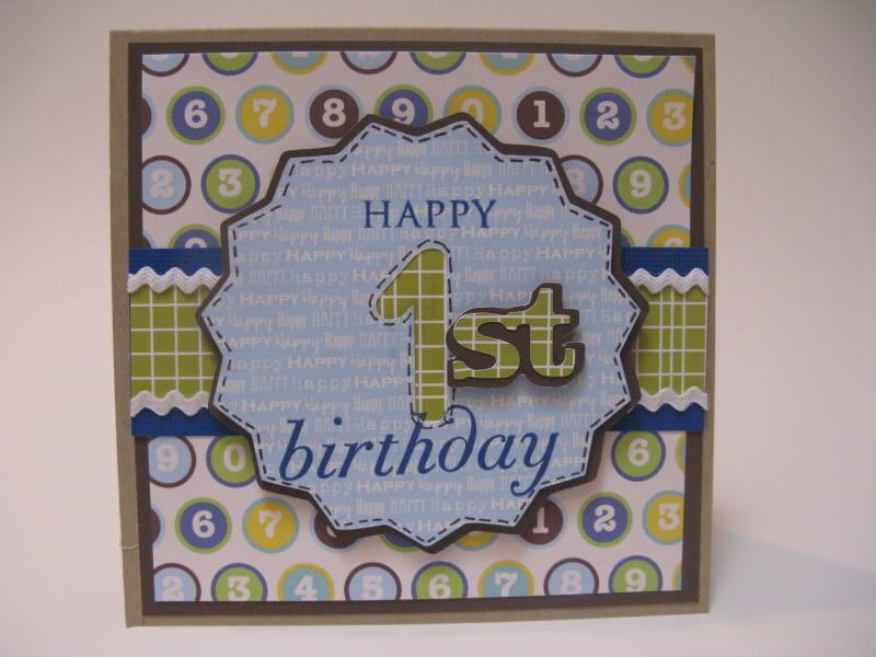 Happy 1st Birthday banner. Using Sophisticated Cricut