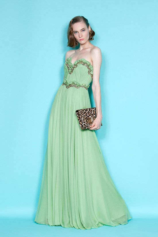 This Sea Foam Green Marchesa Bridesmaid Gown