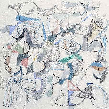 Brian Coleman, 'Heart Not Head', Mixed Media on Canvas, 48x48 -Anne Irwin Fine Art