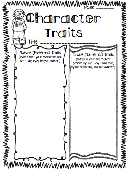 The kids were able to quickly brainstorm character traits