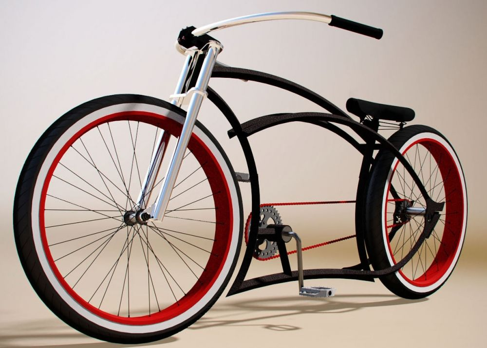 Custom Rahmen Kahaki Baron roh | 4Cruiserproject | Pinterest ...
