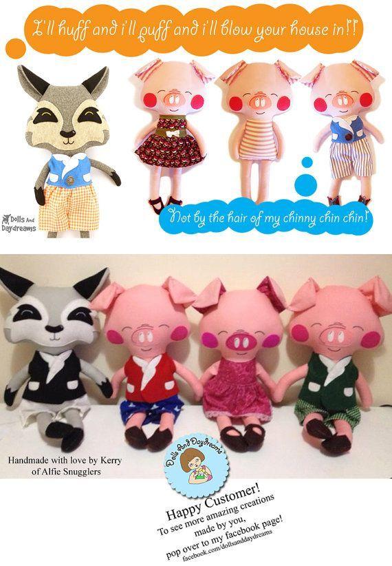 Pig Sewing Pattern PDF Softie Stuffed Toy Photo Tutorial Dress ...