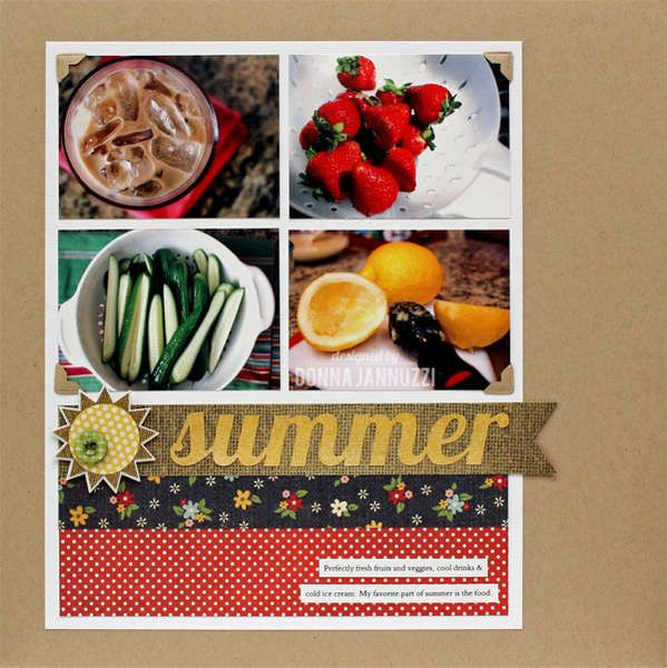 Layout: summer {Simple Stories}