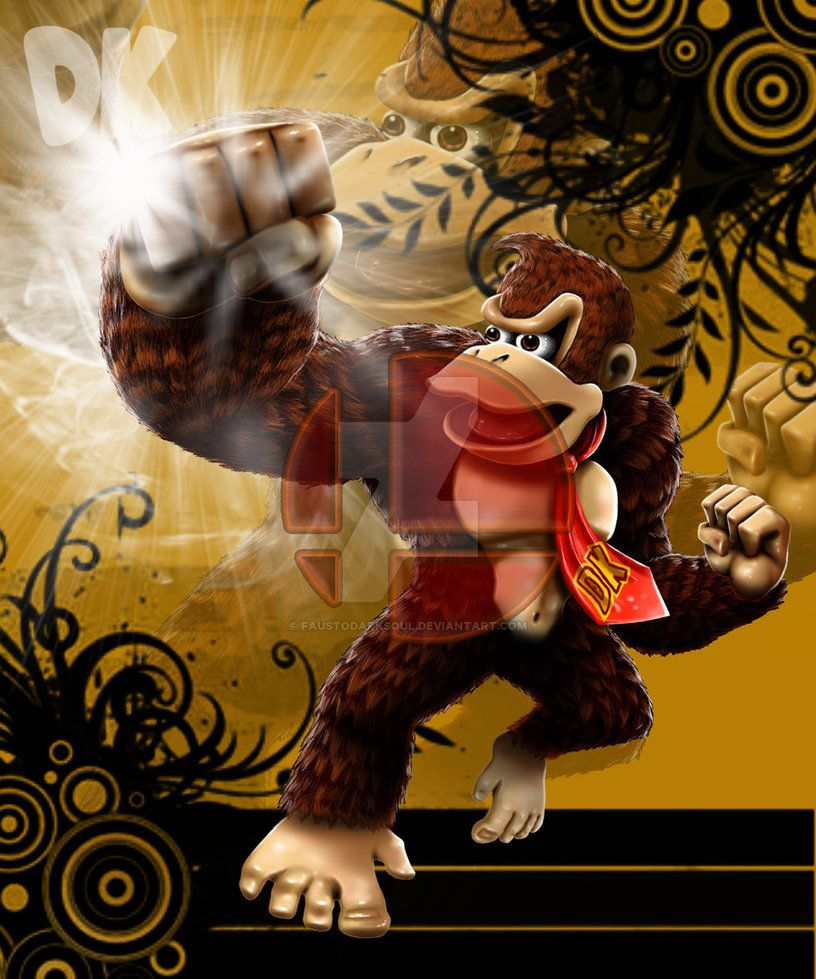 SSB Donkey Kong by FaustoDarkSoul on DeviantArt
