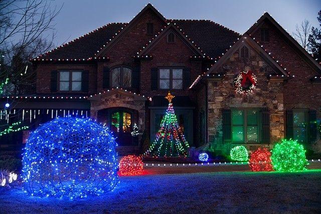 Picturesque Led Outdoor Christmas Decorations LED Light Balls Unique ...