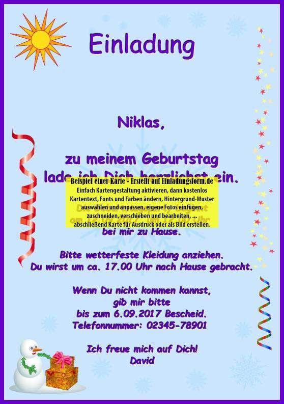 Photo of Einladung Zum Kindergeburtstag Schreiben Fresh Einladungskarte Kindergeburtstag …