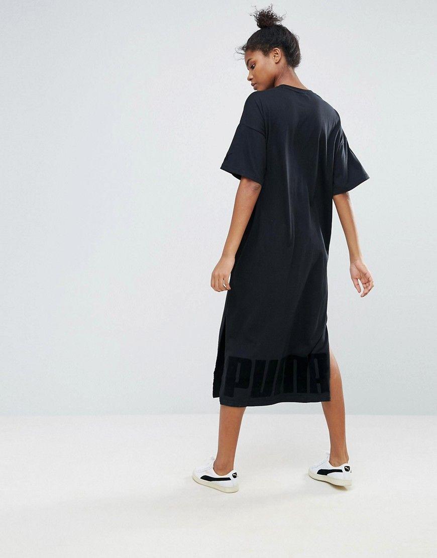 Volantino boschi tumulo  Puma Xtreme Dress - Black | Dresses, Latest casual dress, Casual day dresses