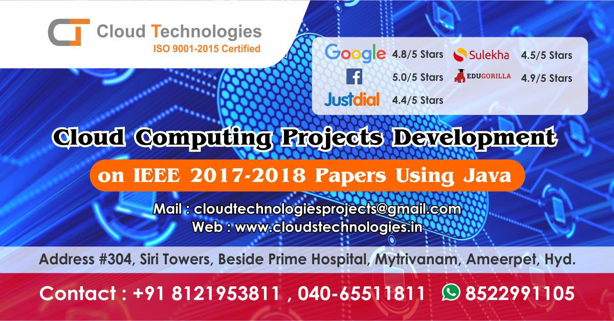 Cloud Technologies Offer Real Time Ieee Projects For M Tech B Tech Be Me Mca And Bca S In 2020 Web Development Design Digital Marketing Services Marketing Services