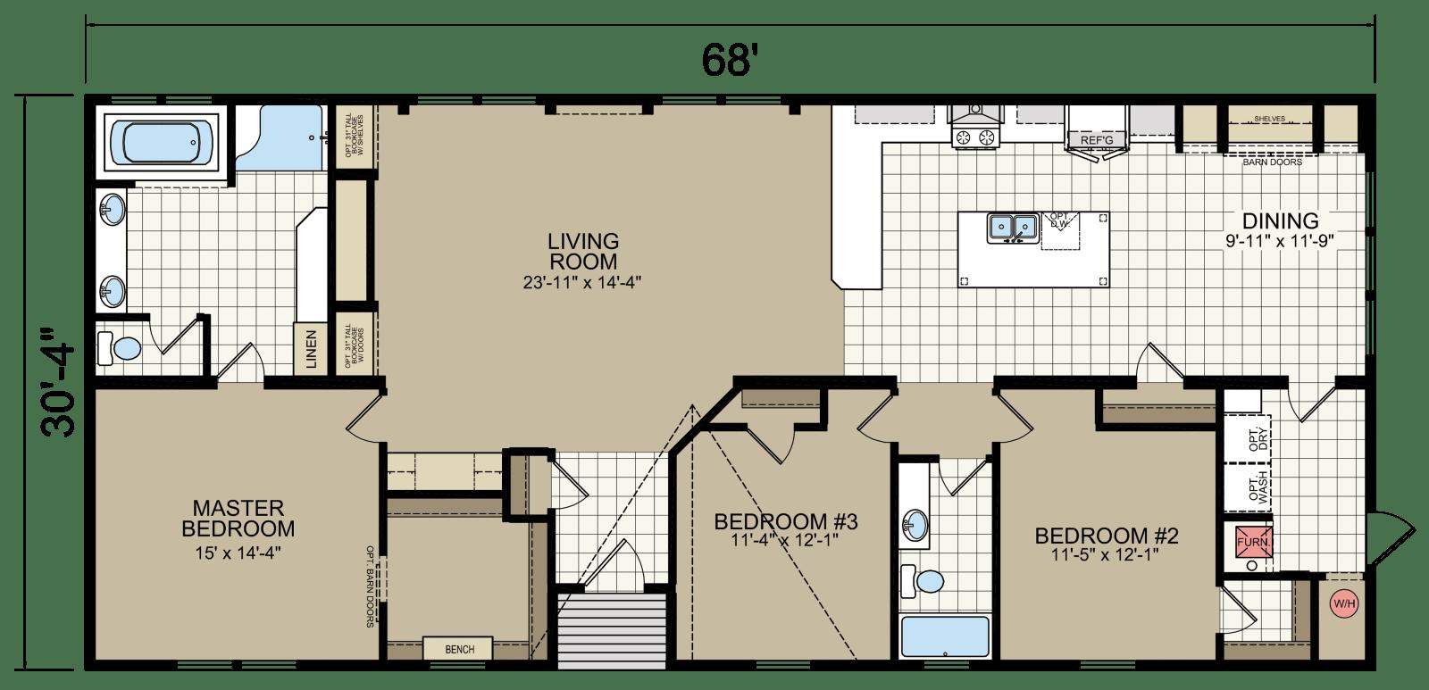 Ridgecrest Le 6010 Champion Homes Champion Homes In 2020 Ridgecrest Mobile Home Floor Plans House Plans