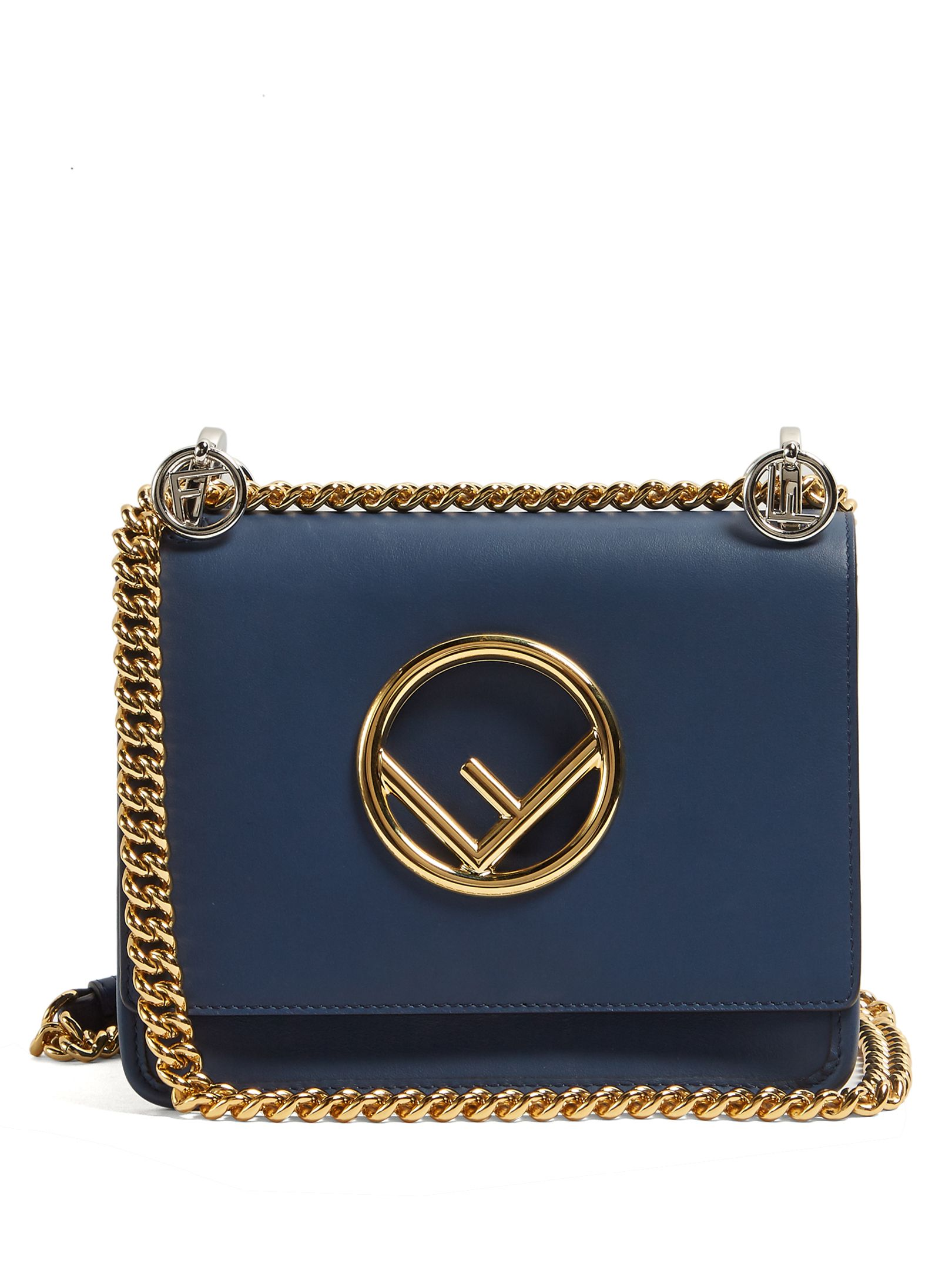 a066d56e702c FENDI Kan I Logo small leather cross-body bag.  fendi  bags  leather ...