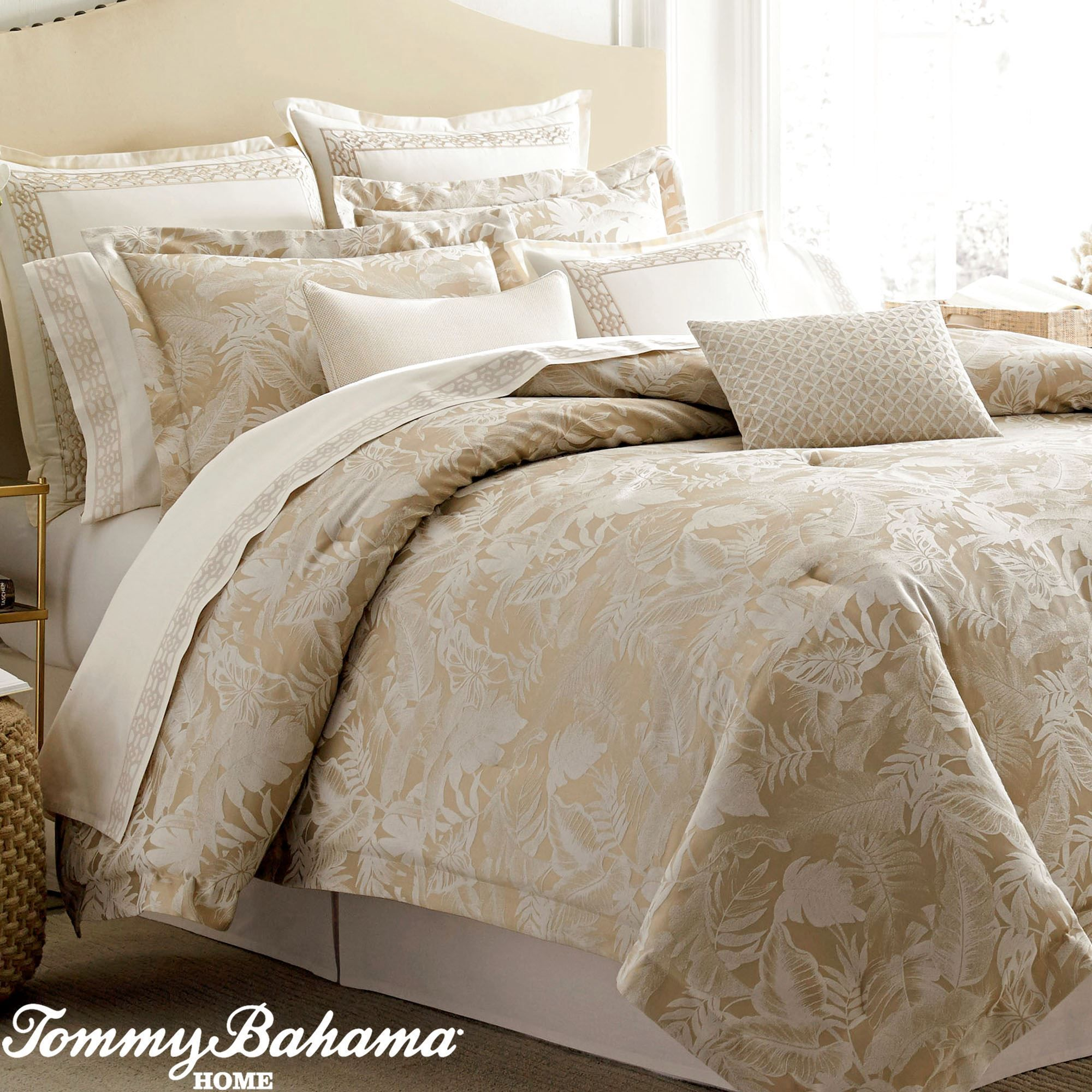 Mangrove Tropical Comforter Bedding By Tommy Bahama Gold Setking