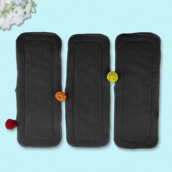 4 Layers Soft Reusable Newborn Baby Bamboo Charcoal Cotton Liners Cloth Diapers·