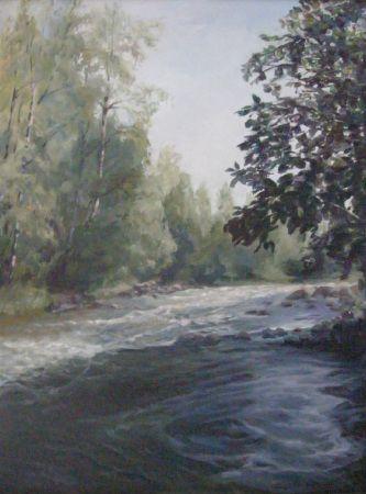 Joki, öljyväri