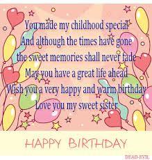 Happy Birthday Sister Quotes Soft Sister Birthday Quotes Happy