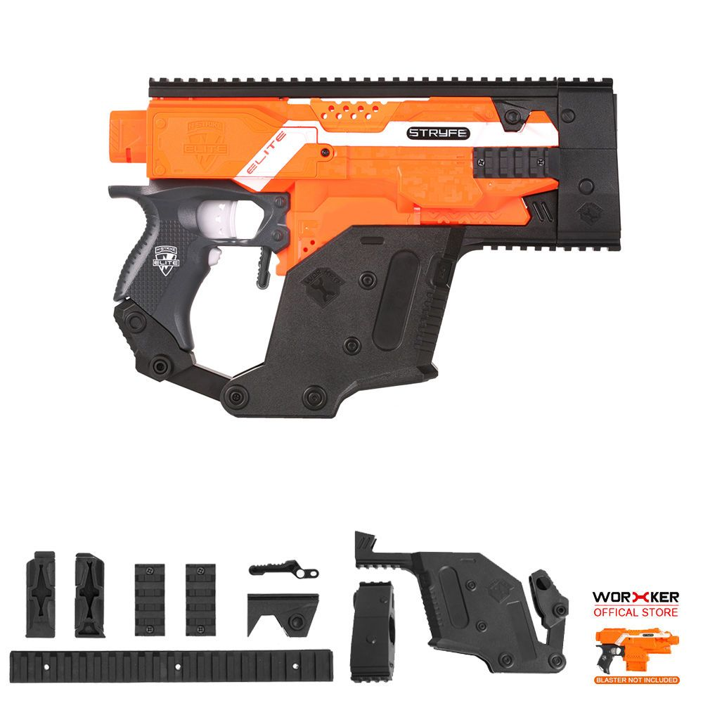 Worker MOD Kriss Vector Imitation Kit Combo A 6 Items for Nerf STRYFE  Modify Toy #