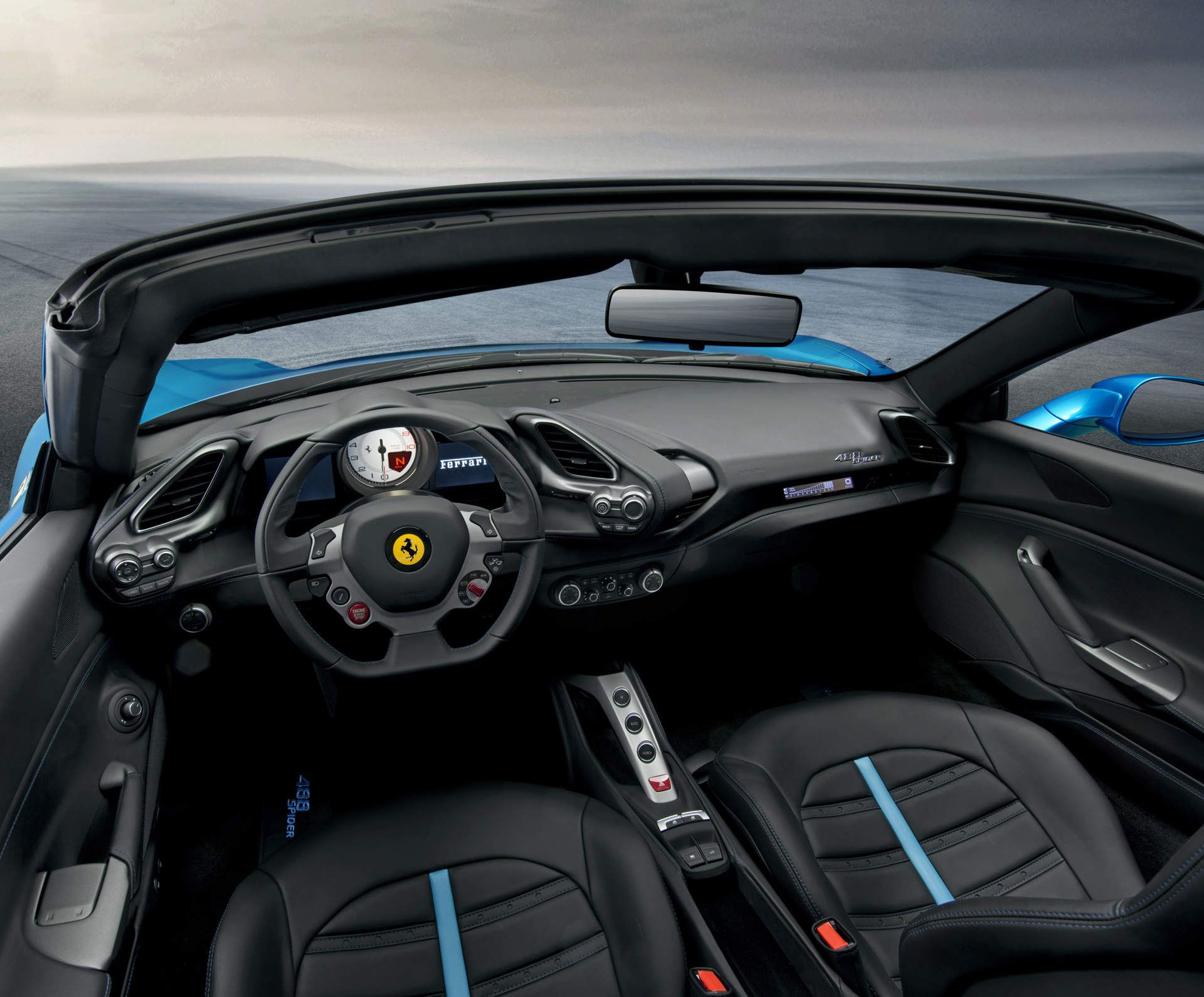 The 2016 Ferrari 488 Spider Takes A Little f The Top