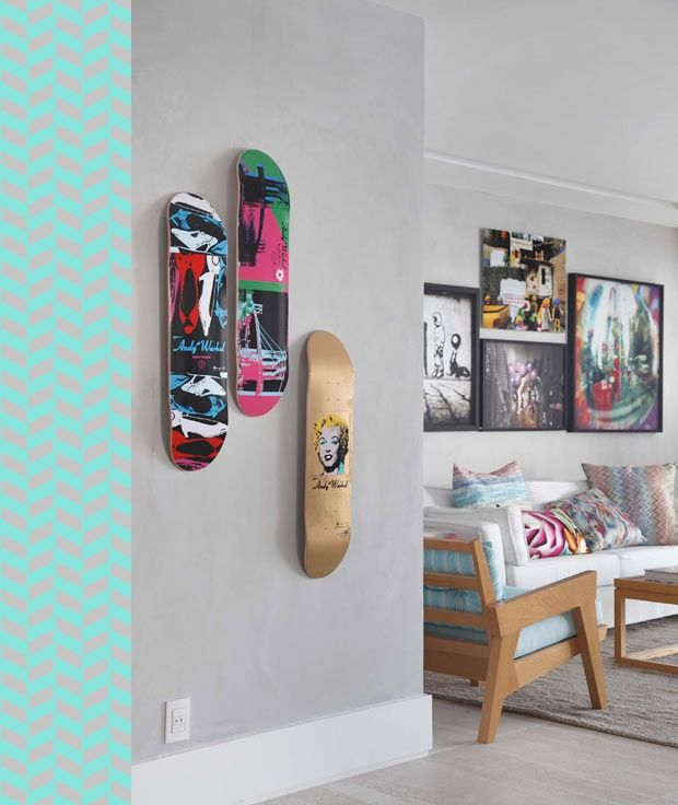 ideas wall decorations. Ideas for Redoing a Boys Room Skateboard ...