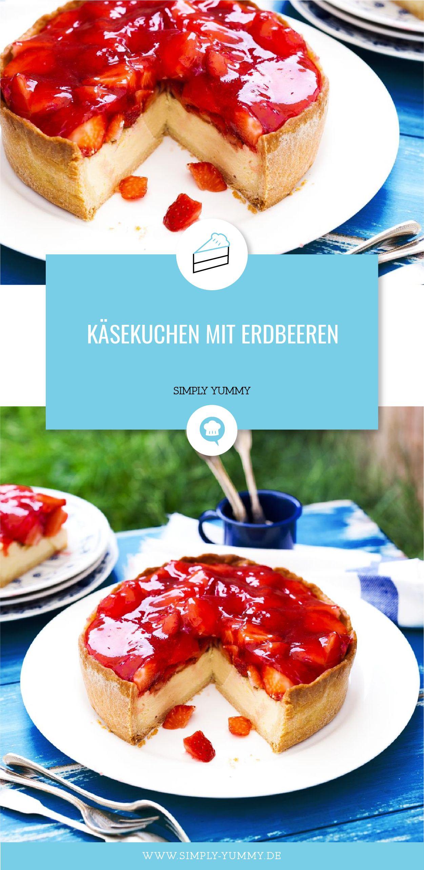 Käsekuchen mit Erdbeeren #süßesbacken