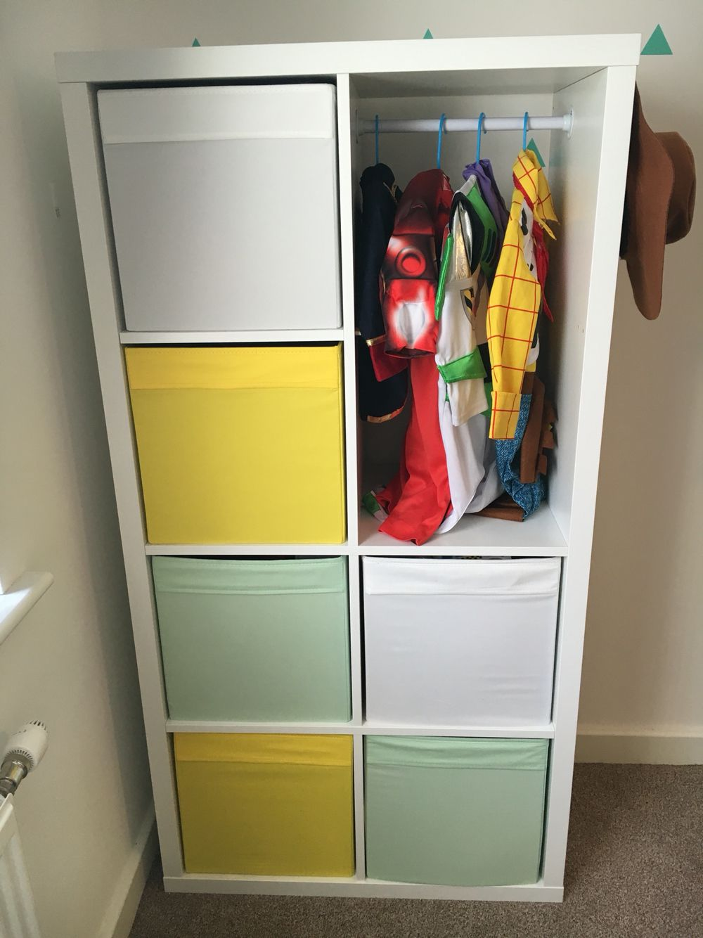 Space For Dressing Up Outfits Using IKEA Kallax Unit