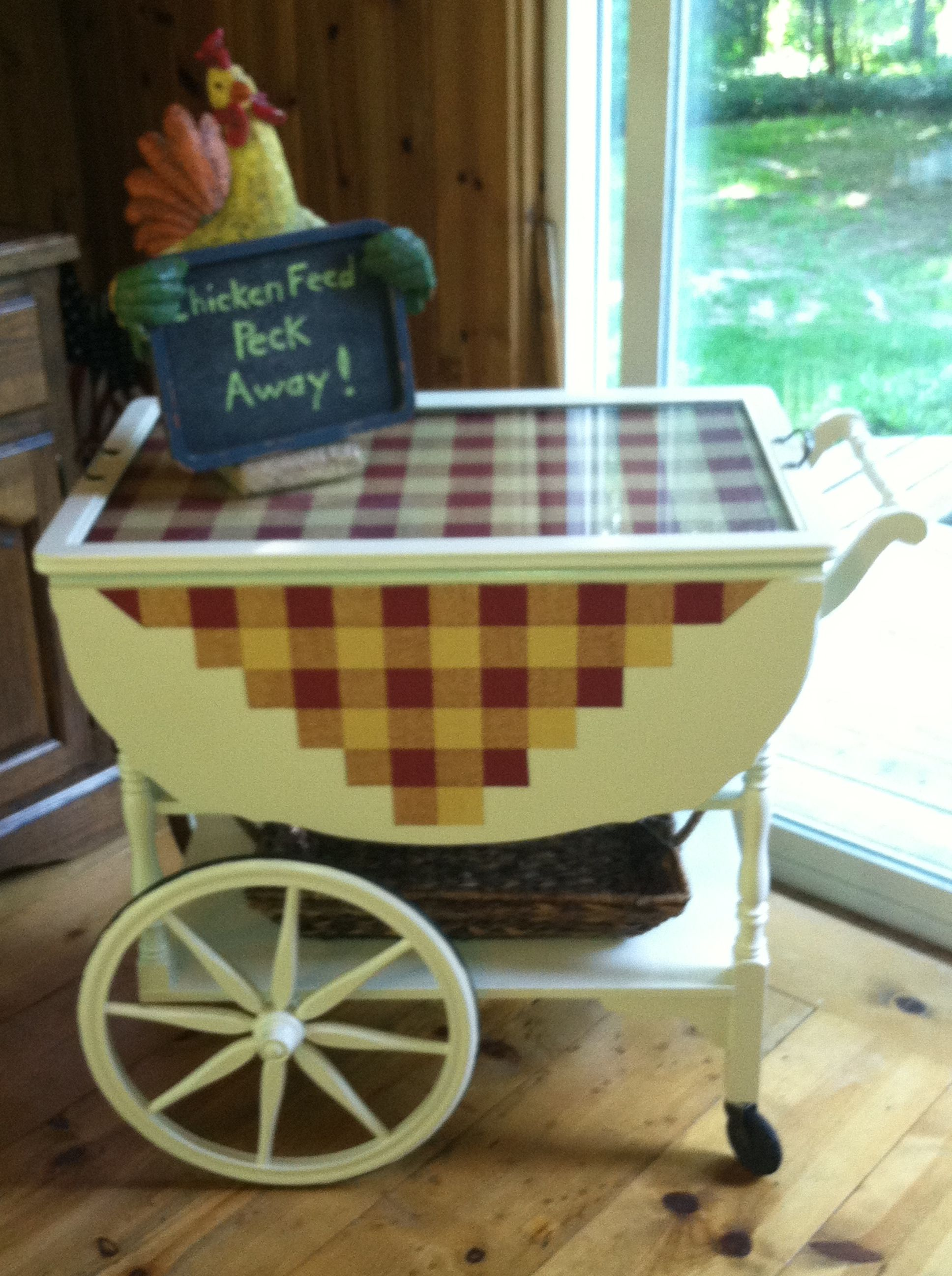 Painted An Old Maple Tea Cart Love How It Turned Out
