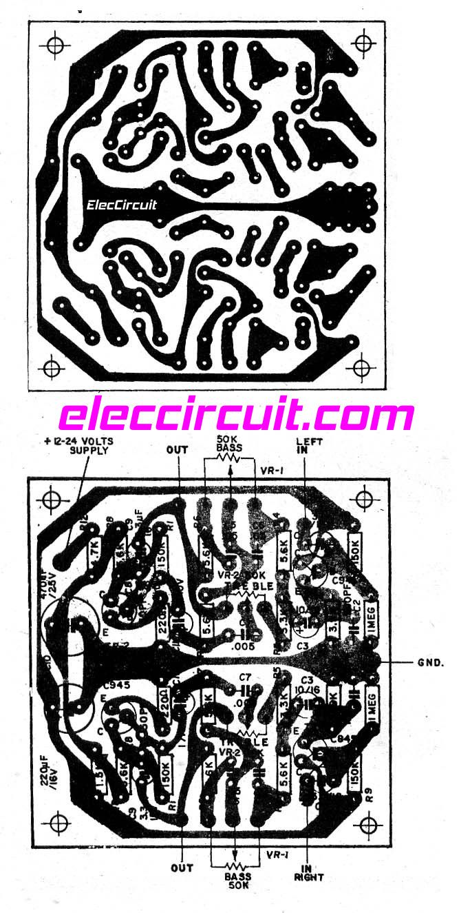 TOP 7 Tone control circuit, Low noise - ElecCircuit.com | Pinterest ...