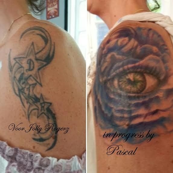 cover up in progress by Pascal @Jolly Rogerz tattoo