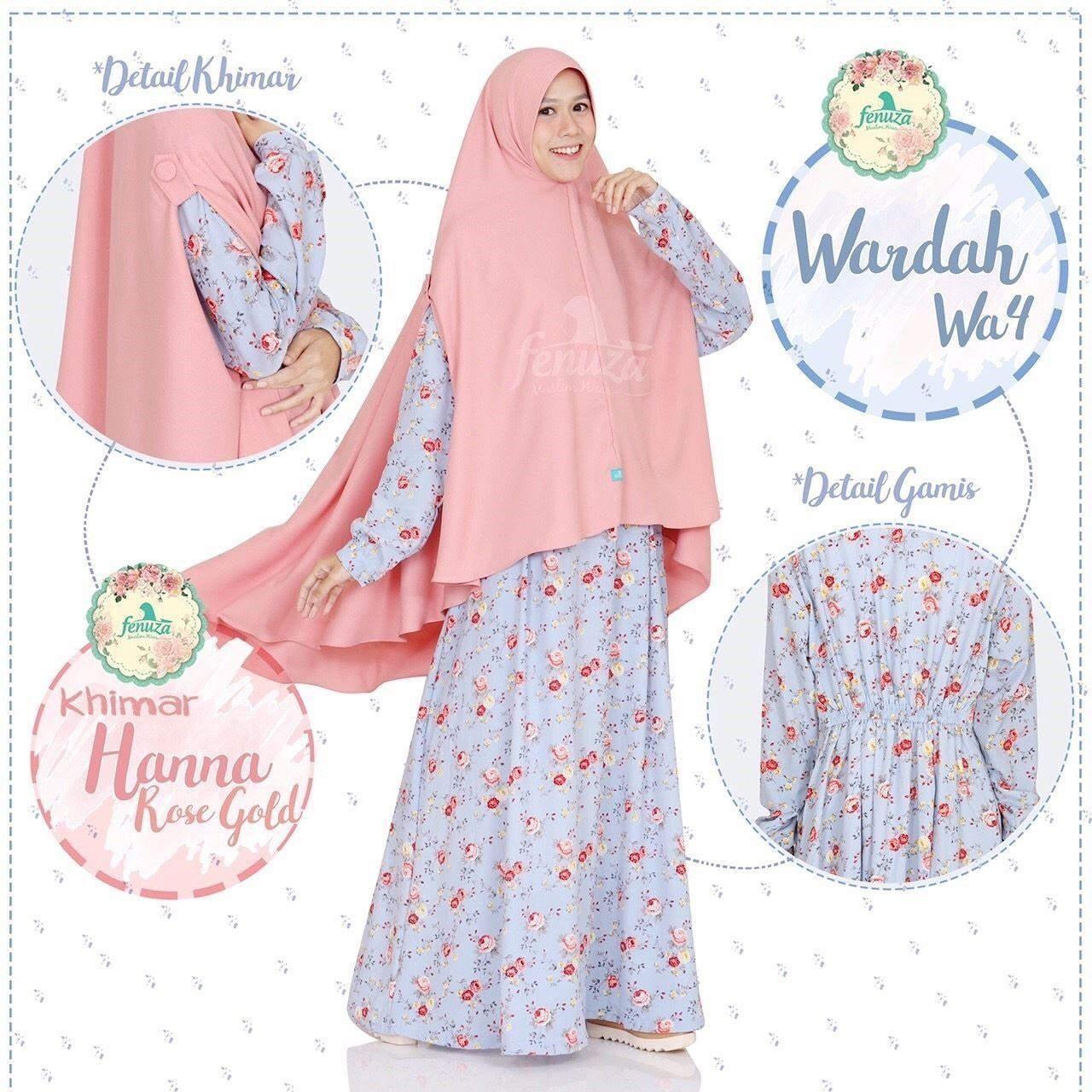Gamis Fenuza Muslim Wear Wardah Series Wa 4 Baju Gamis Wanita Busana Muslim Untukmu Yg Cantik Syari Dan Trendy Bahan Gamis I Wanita Muslim Baju Muslim