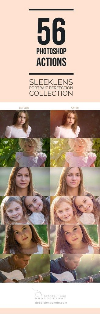56 Photoshop Actions from Sleeklens.