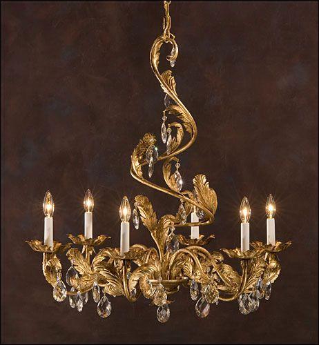 Wrought Iron Chandelier Fine Lighting