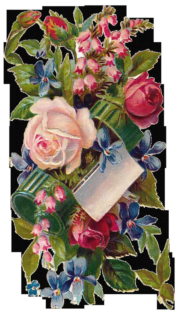 Открытки с цветами старинные