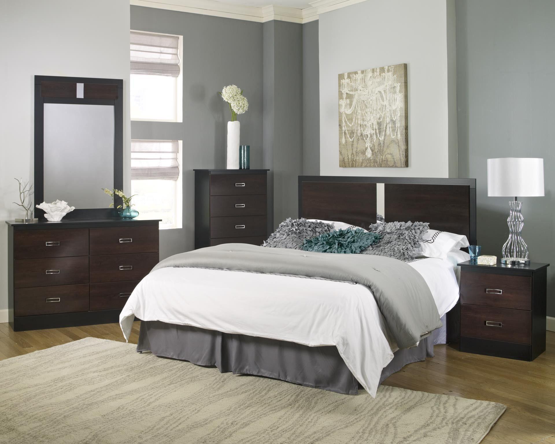 Bedroom Suites Online Style Painting hurley bedroom package - black w/ colonial cherry | hurley
