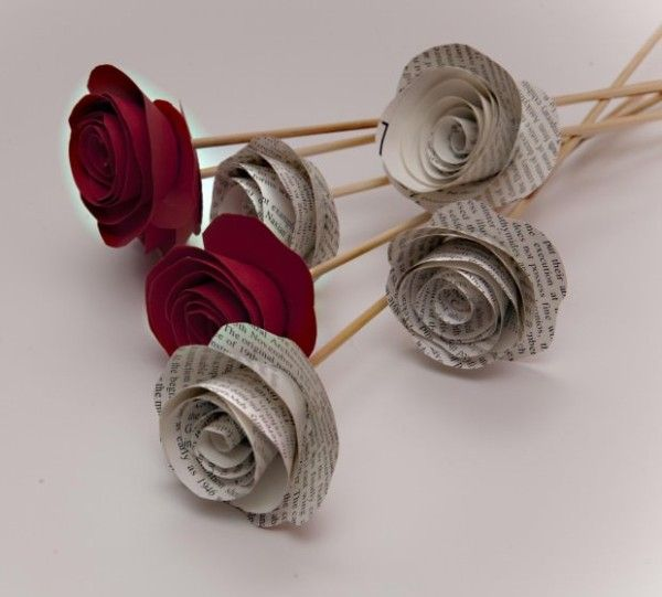 C mo hacer rosas de papel para regalar - Como hacer rosas de papel ...