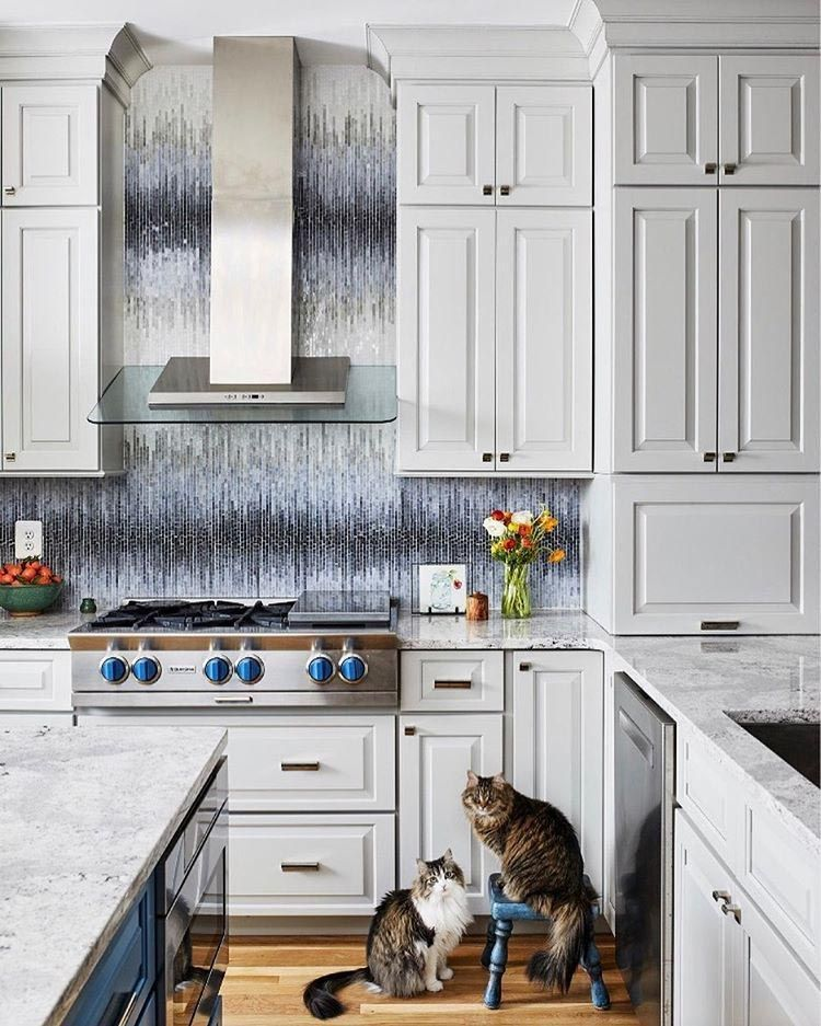 Artistic Tile I Dapper Daisy Mosaic In White Silver Illuminates This Backsplash With A Floral Arrange Metallic Backsplash Interior Design Kitchen Kitchen Hoods