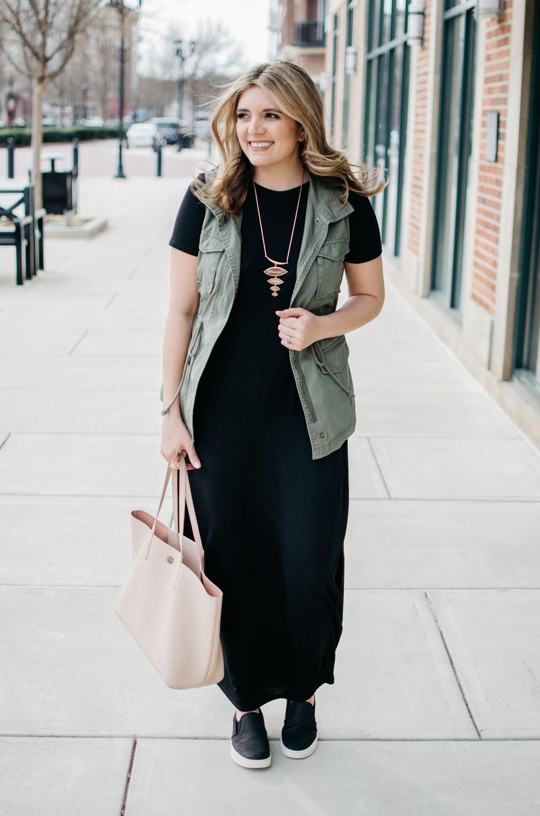 Maxi Dress Sneakers Outfit Cute Casual Outfit For Spring By Lauren M Dressy Outfits Dress With Sneakers Dress And Sneakers Outfit [ 1600 x 1060 Pixel ]