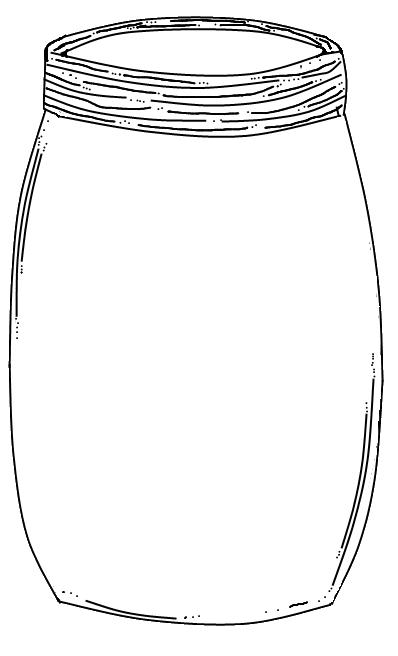 Mason Jar Printable: Use to create fingerprint lightning bug art